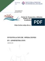 Investigacion de Operaciones en Administracion