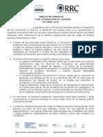 Tarjeta Informativa Red Por La Rendición de Cuentas