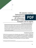 El Entorno Externo Latinoamericano Análisis Comparativo de Los Patrones De