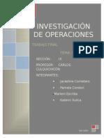 Trabajo de Investigación de Operaciones