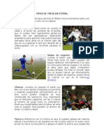 Tipos de Tiros en Fútbol