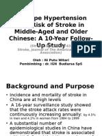 Hipertensi and Risk of Stroke
