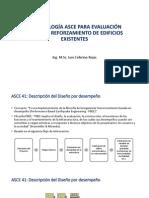 Metodología Asce Para Evaluación Sísmica y Reforzamiento