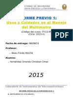 Informe Previo 1 IT313 FIEE UNI