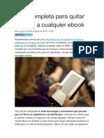 Guía Completa Para Quitar El DRM a Cualquier eBook