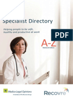 2014 Recovre Specialist Directory