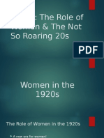 1920s the role of women   the not so roaring 20s
