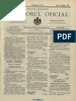 Monitorul Oficial Al României, Nr. 136, 20 Septembrie 1905