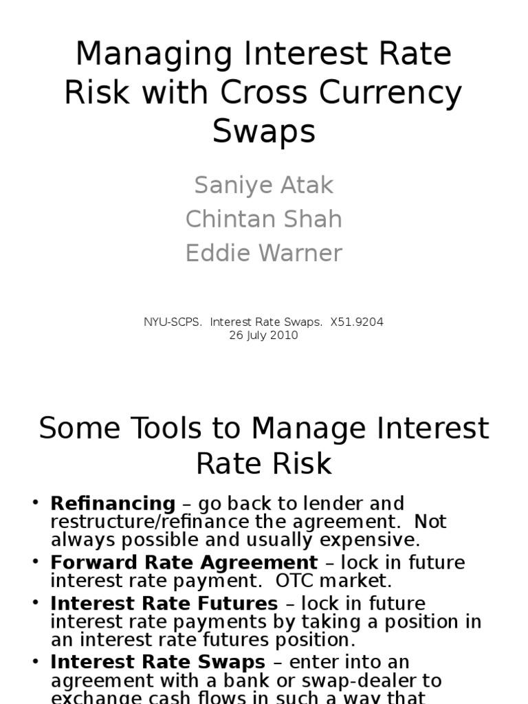 Cross Currency Riskppt Interest Rate Swap Swap Finance