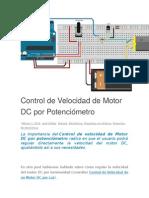 Control de Velocidad de Motor DC Por Potenciómetro