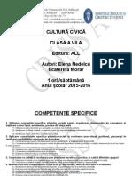 0 Planificare Cultura Civica Clasa a Vii a 20152016 (1)