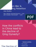 opium war   tai ping rebellion