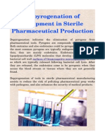 Depyrogenation of Equipment in Sterile Pharmaceutical Production
