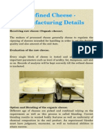 Refined Cheese - Manufacturing Details