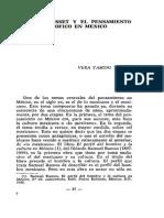 Ortega y Gasset y El Pensamiento Filosófico Mexicano