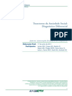 Transtorno Ansiedade Social Diagnostico Diferencial