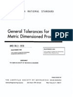ANSI B4.3-1978 General Tolerances for Metric Dimensioned Products