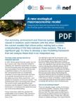 NEF - New Economic Model - Ecosystem, Macroeconomy and Financial System