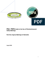 Photoluminescent Egress Markings Guide Exit Stairs Psa Pspa