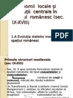 Autonomii Locale Și Instituții Centrale În Spațiul Românesc