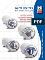 Domestic Electric Water Heaters (Sept 2011)