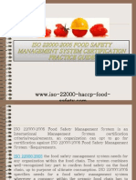ISO 22000 2005 Food Safety Management System Certification Practice Guide