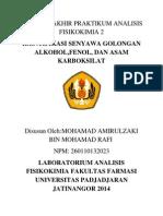 pengenalan identifikasi gugus alkohol fenol dan asam karboksilat