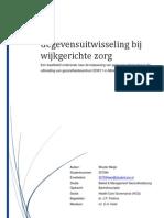 Bachelorscriptie Gegevensuitwisseling Wijkgerichte zorg in Alblasserdam