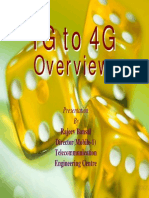 1G to 4G an Overview by Rajeevbansal2
