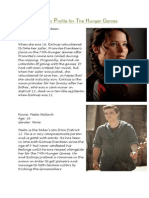 IMPROVED Character Profile for the Hunger Games and The Amazing Spider-Man