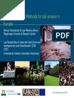 Risk assessment methods for soil erosion in Europe