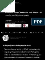 ABREU, Paula (2015) - Resisting the vortex of digital online music diffusion – DIY recording and distribution strategies