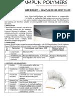 Kampun Joint Filler Board Product Catalog