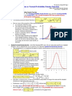Gaussian or Normal PDF