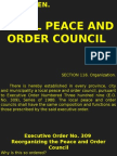 Local Peace Council and Economic Zones