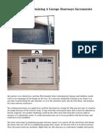 The Mishaps Of Obtaining A Garage Doorways Sacramento