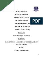 Logistics & Scm Hardcopy