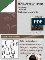 PERTEMUAN 2 Definisi Technopreneurship (Technopreneurship) Final