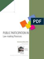 Public Participation in Law Making Processes