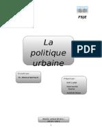 La Politique Urbaine