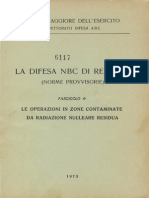 La difesa N.B.C. di reparto - Fascicolo 4 - Le operazioni in zone contaminate da radiazione nucleare residua (6117) 1973