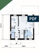 Proiect Casa Mansarda Int 216012