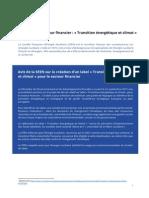 Avis de la SFEN sur la création d'un label « Transition énergétique et climat » pour le secteur financier