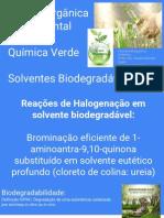 Química Verde Solventes Biodegradáveis