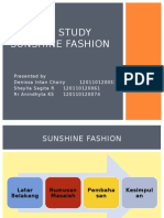 Case Study Sunshine Fashion