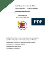 Análisis de las revistas universitarias de divulgación científica