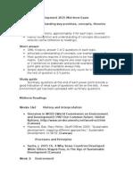 Sustainable Development 2015 Mid-term 1.0