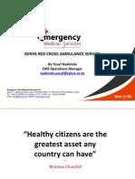 Kenya Red Cross Ambulance Service Presentation1