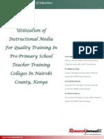 Utilization of Instructional Media for Quality Training