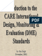 Introduction to the CARE Design, Monitoring and Evaluation Standards